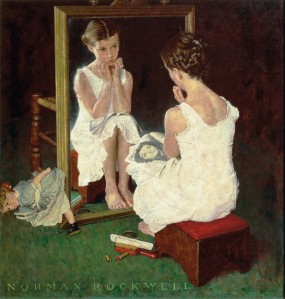 Norman Rockwell: Girl at the Mirror