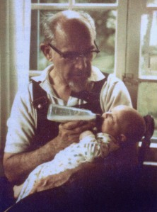 Me with my Grandpa. 1974.